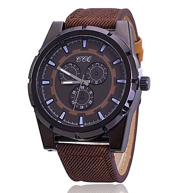 Damen Modeuhr Quartz Armbanduhren für den Alltag Leder Band Schwarz Blau Rot Braun