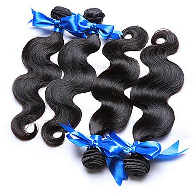 Cabelo Brasileiro Onda de Corpo Tramas de cabelo humano 4 Peças 0.4