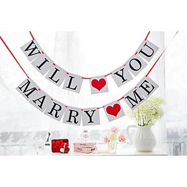 Bryllup jubileum Engasjement Utdrikningslag Hardt Kortpapir Bryllupsdekorasjoner Strand Tema Hage Tema Blomster Tema Vinter Vår Sommer