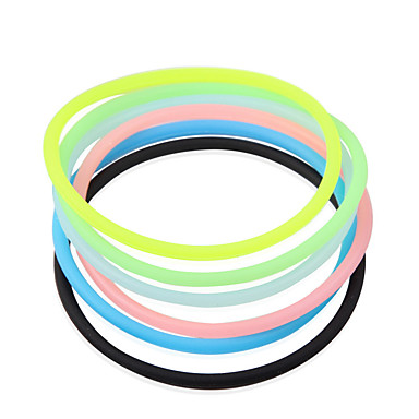 Transparentní Hygienické Elastic Rubber vlasů kapela (Random Color)