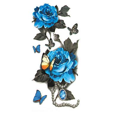 Tatuajes Adhesivos Los tatuajes temporales Art Deco / Retro Impermeable / 3D Artes de cuerpo Rostro / manos / brazo