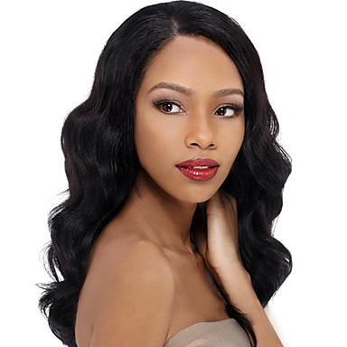 Echt haar Kanten Voorkant Pruik Golvend 120% 130% Dichtheid 100% handgebonden Afro-Amerikaanse pruik Natuurlijke haarlijn Kort Medium Lang