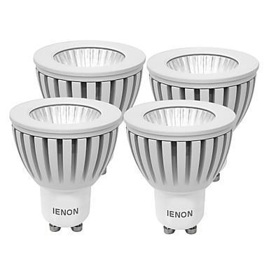 GU10 Lâmpadas de Foco de LED MR16 1 COB 240-270 lm Branco Quente Branco Frio Decorativa AC 100-240 V 4 pçs
