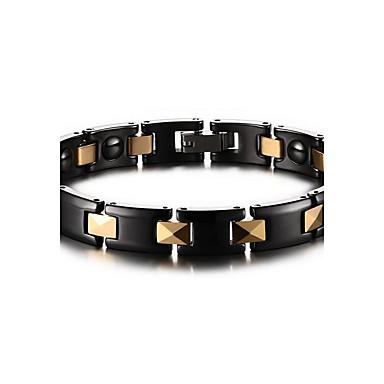 Ketten- & Glieder-Armbänder Edelstein Naturschwarz Magnettherapie Europäisch Keramik vergoldet Schmuck FürAlltag Normal Weihnachts