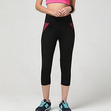 Mulheres Calças de Corrida Respirável Macio Compressão Suave Calças para Exercício e Atividade Física Corrida Vermelho Rosa S M L XL