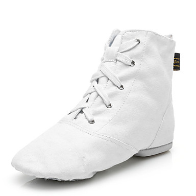 cheap Jazz Shoes-Women's Jazz Shoes Canvas Boots Lace-up Customized Heel Customizable Dance Shoes White / Black / Red / Performance