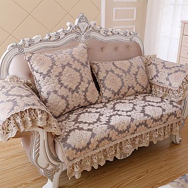 europeisk klassisk vattert sofatrekk høyverdig chenille armlenet sofa håndkle sklisikkert stoff sofa pute