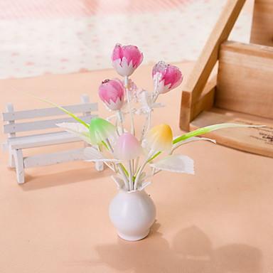 מנורת לילה אור ורוד פרח חיישן יצירתי צבע לשינוי