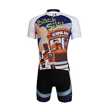 ILPALADINO Herrn Kurzarm Fahrradtriktot mit Fahrradhosen - Orange + weiß Fahhrad Shorts/Laufshorts Trikot/Radtrikot Kleidungs-Sets,