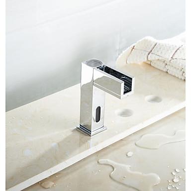 Moderne Vasque Tactile/non tactile 1 trou Mitigeur un trou Chrome, Robinet lavabo