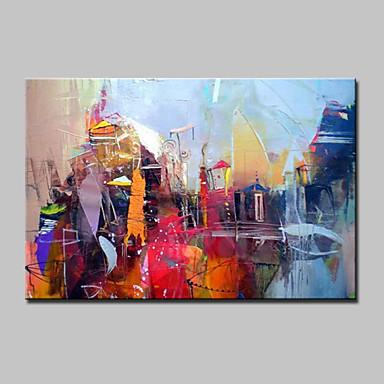 Hånd-malede Abstrakt Landskab Horisontal,Moderne Et Panel Kanvas Hang-Painted Oliemaleri For Hjem Dekoration