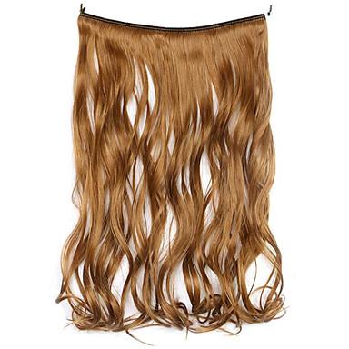 peruca marrom 45 centímetros sintética fio de alta temperatura de cor 6a encaracolados pedaço de cabelo