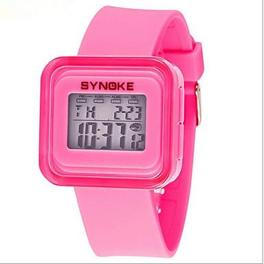 SYNOKE Infantil Relógio de Pulso Relogio digital Relógio Esportivo Digital Alarme Calendário Cronógrafo Impermeável Luminoso LCD Borracha