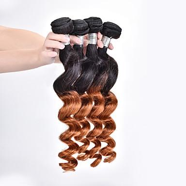 Ombre Düz Brezilya Saçı Gevşek Dalgalar saç örgüleri