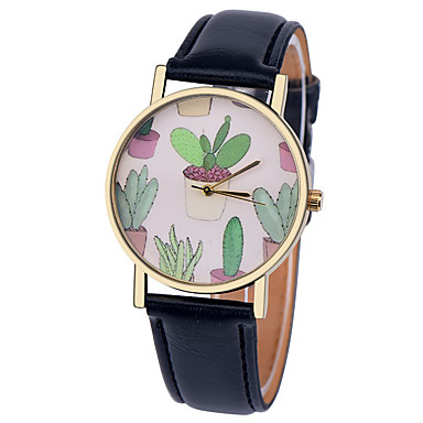 Damen Modeuhr Quartz Armbanduhren für den Alltag Leder Band Elegant Schwarz Weiß Braun Grün Rosa