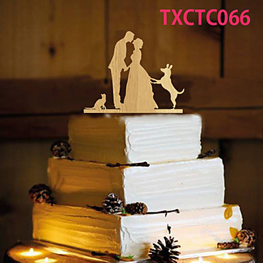 Tortadísz Nem személyre szabott Klasszikus pár Gyanta Esküvő Sárga Pillangó téma 1 OPP