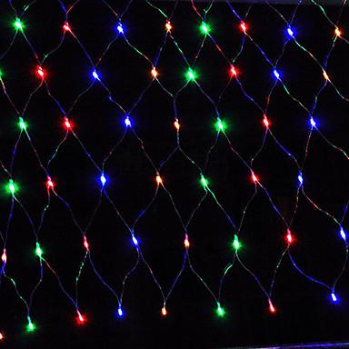 Leuchtgirlanden 96 LEDs Warmes Weiß Rosa Gelb Blau Rot Wiederaufladbar Wasserfest 100-240V