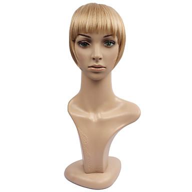 povoljno Perike i ekstenzije-Tamnosmeđa Blonde Golden Brown Golden Brown s plavom Golden Brown Blonde s bijelim Ravan kroj Šiške resa 0.03kg Sintentička kosa Kose za