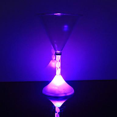 0.5 W Fargeskiftende Batteri Sensor Natt Lys / LED- Glass <5V V Plastikk