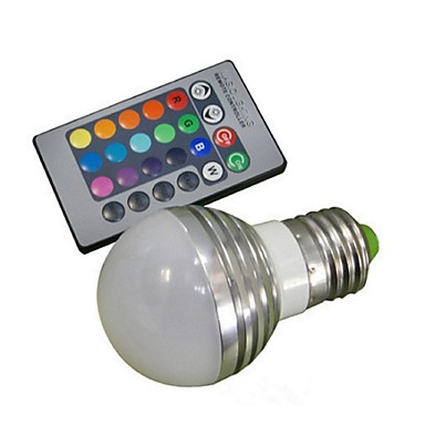 1pc 3 W 150 lm E26 / E27 Bombillas LED Inteligentes 1 Cuentas LED LED de Alta Potencia Control Remoto / Decorativa RGB 85-265 V / 1 pieza / Cañas
