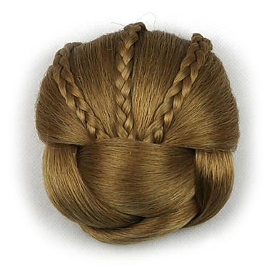 verworrene lockige europa braun Braut Chignons menschliches Haar capless Perücken DH104 1011