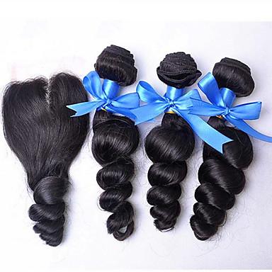 Hair Vetülék, zárral Perui haj Laza hullám 18 hónap 3 darab haj sző