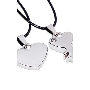 Modische Halsketten Anhängerketten Schmuck Hochzeit / Party / Alltag / Normal / Sport Leder / Strass / Titanstahl Silber 1 Paar Geschenk