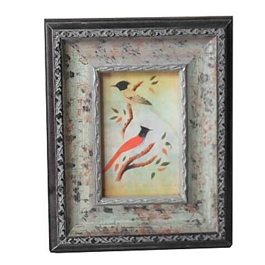 6 * 4 * 1 de madeira maciça estilo europeu / americano Vintage picture frame