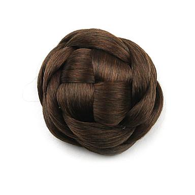 verworrene lockige braune Europa Braut Perücken menschliches Haar capless Chignons g660205 2/30