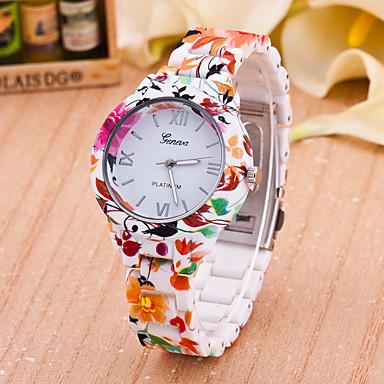 Mulheres Relógio de Moda Quartzo Plastic Banda Flor Cores Múltiplas