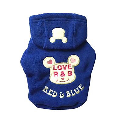 Katze Hund Kapuzenshirts Hundekleidung Lässig/Alltäglich Bär Schwarz Rose Blau Kostüm Für Haustiere