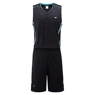 בגדי ריקוד גברים ללא שרוולים ספורט פנאי בדמינטון כדורסל ריצה מדים בסטים רחבים מכנסיים קצרים ייבוש מהיר נושם
