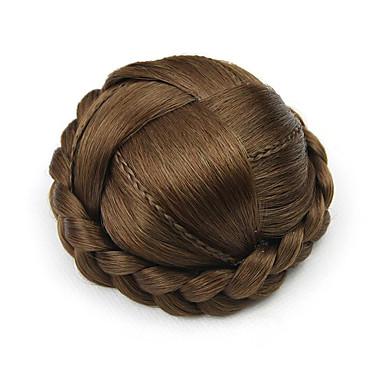 verworrene lockige braun europa kleine menschliches Haar capless Perücken Chignons 7027