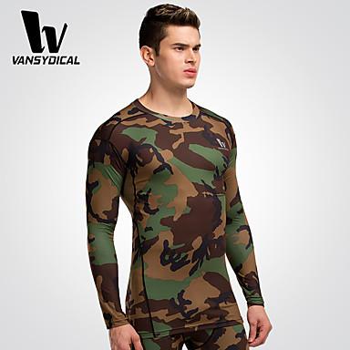 Homens Corrida Camiseta Meia-calça Blusas Respirável Secagem Rápida Compressão Primavera Verão Moda EsportivaExercício e Atividade Física