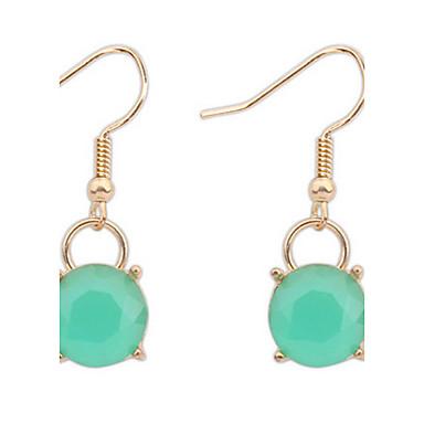 einfache kreisförmige grüne Sommer Mode Kristall Ohrringe eleganten Stil