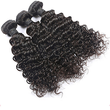 Cheveux Malaisiens Bouclé / Ondulation Naturelle / Tissage bouclé Cheveux Vierges Tissages de cheveux humains Tissages de cheveux humains