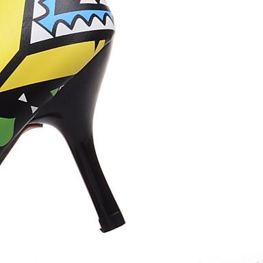 Talón Cuero Boda y de Tacón Vestido Napa Fiesta Cuero Innovador Rojo Noche 05114878 Mujer Tacones Primavera Patentado Fiesta Amarillo Verano Noche Stiletto y Confort Zapatos Descubierto 5TxwWEv
