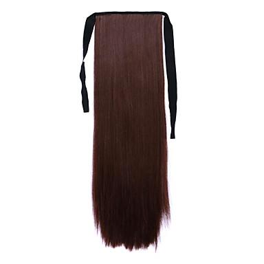 저렴한 가발 & 헤어 연장-갈색 길이 60cm 합성 바인드 유형 긴 직선 머리 가발 말꼬리 (색상 33j)