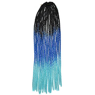 20 Zoll kanekalon senegalese Zöpfe häkeln weichen Dreadlock Flechten Haar ombre Farbe schwarz royalblau Himmel blau