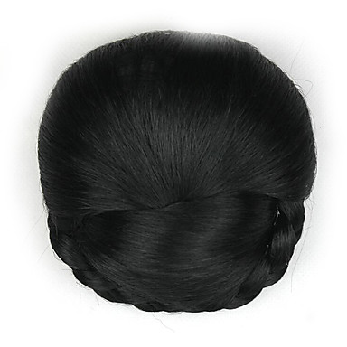 verworrene lockige schwarze Art und Weise menschliches Haar capless Perücken Chignons 2