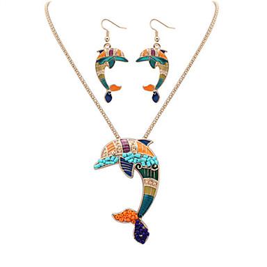 Mujer Conjunto de joyas - Piel, Resina Delfín, Animal Europeo, Moda, Estilo lindo Incluir Collar / pendientes Plata / Dorado Para Fiesta / Diario / Casual / Pendientes / Collare