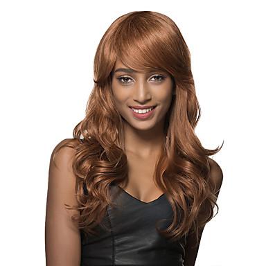 surpreendentes leves estilos encaracolados ruivos de cabelo para as mulheres cabelo humano de Remy sem tampa peruca