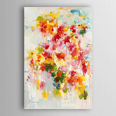 handgemaltes Ölgemälde abstractl abstrakten bunten Blumen mit gestreckten Rahmen 7 Wand ARTS®