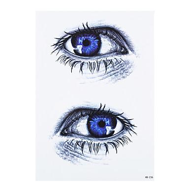 8pcs Frauen Männer temporäre wasserdichte Aufkleber farbige Zeichnung Auge Schmetterling Henna-Design Body Art Harajuku Tattoo-Aufkleber