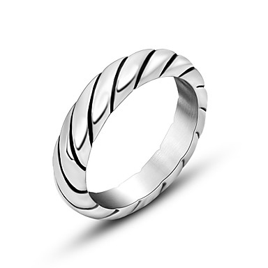טבעות אופנתי יומי תכשיטים טבעות רצועה 1pc,מידה אחת One Size כסף