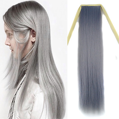 Com Adesivo sintético Extensões de cabelo 100g Alongamento
