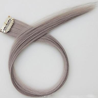 flaxen comprimento 60 centímetros peruca sintética longa cor do cabelo em linha reta (t0906 cor)