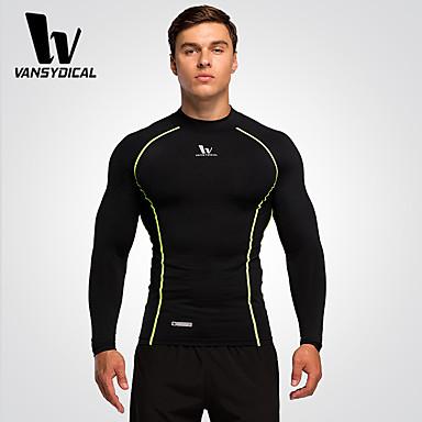 Homens Corrida Camiseta Meia-calça Blusas Secagem Rápida Respirável Compressão Primavera Verão Moda EsportivaExercício e Atividade Física