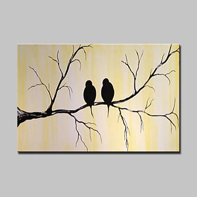 Peint à la main Animal Horizontale,Moderne Un Panneau Toile Peinture à l'huile Hang-peint For Décoration d'intérieur