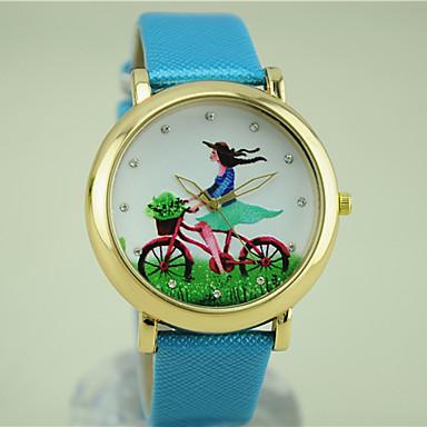 Damen Modeuhr Armbanduhren für den Alltag Quartz Schlussverkauf PU Band Charme Schwarz Weiß Blau Rot Braun Grün Rosa Lila Rose